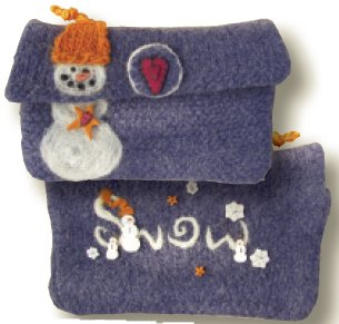 JABCo Stitch Every Day  7632 Snow Purse Knitting