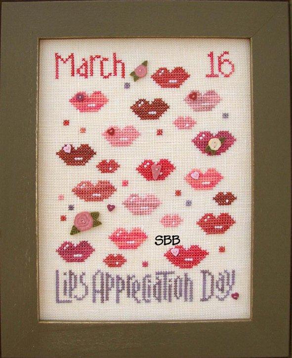 JABCo Stitch Every Day  8134 Lips Appreciation Day
