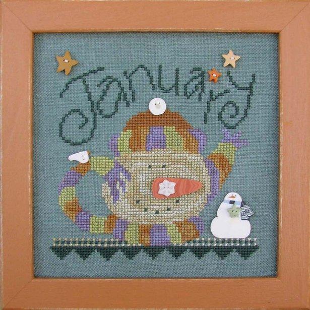 JABCo Stitch Every Day  8413 Tea Pot January
