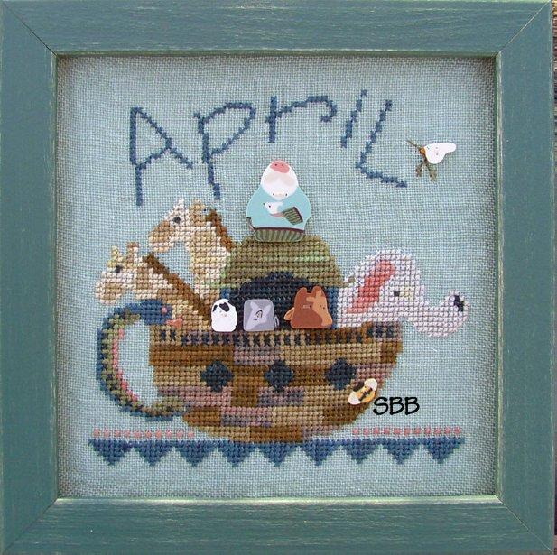JABCo Stitch Every Day  8428 Tea Pot April