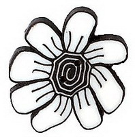 JABCo Sunshine & Shadows Collectionss1004.S Small Black & White Daisy