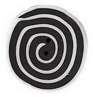 JABCo Sunshine & Shadows Collectionss1005.M Medium Black & White Swirl