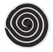 JABCo Sunshine & Shadows Collectionss1005.S Small Black & White Swirl