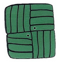 JABCo The Thirties Collectiontc1008.L Large Green Square