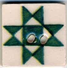 Jim Shore Buttons87003 Green Ohio Star