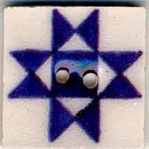 Jim Shore Buttons87004 Blue Ohio Star