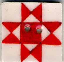 Jim Shore Buttons87005 Red Ohio Star