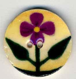 Jim Shore Buttons87019 Purple Violet On Beige