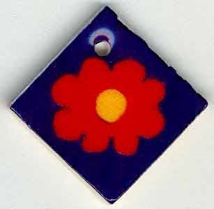 Jim Shore Buttons87024 Red Bloom