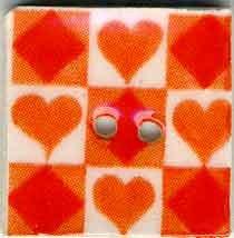 Jim Shore Buttons87027 Orange Tic Tac Toe