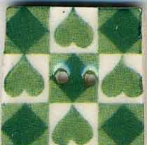 Jim Shore Buttons87028 Green Tic Tac Toe
