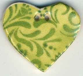 Jim Shore Buttons87032 Lime Hearts Desire