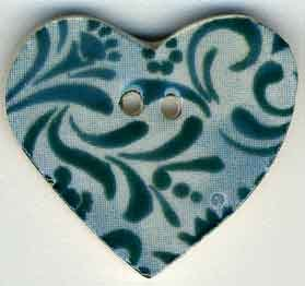 Jim Shore Buttons87033 Teal Hearts Desire