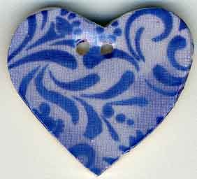 Jim Shore Buttons87034 Blue Hearts Desire