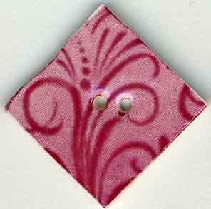 Jim Shore Buttons87041 Rose Flourish Diamond