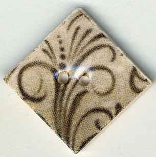 Jim Shore Buttons87042 Taupe Flourish Diamond