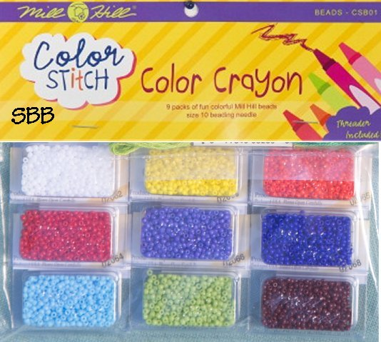 Mill Hill Color Stitch CSB01 Color Crayon Bead Pack