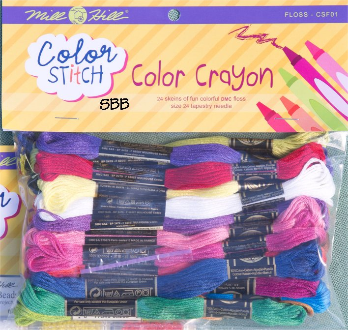Mill Hill Color Stitch CSF01 Color Crayon Floss Pack