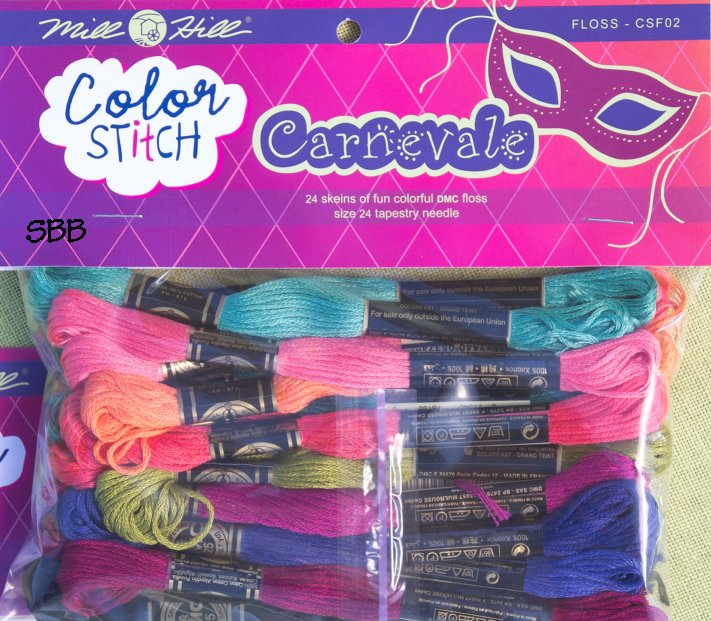 Mill Hill Color Stitch CSF02 Carnevale Floss Pack