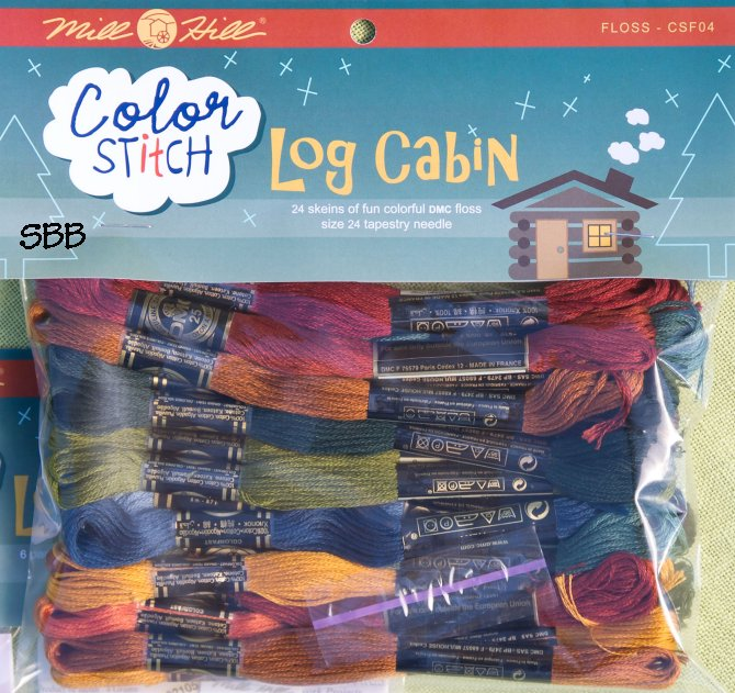 Mill Hill Color Stitch CSF04 Log Cabin Floss Pack