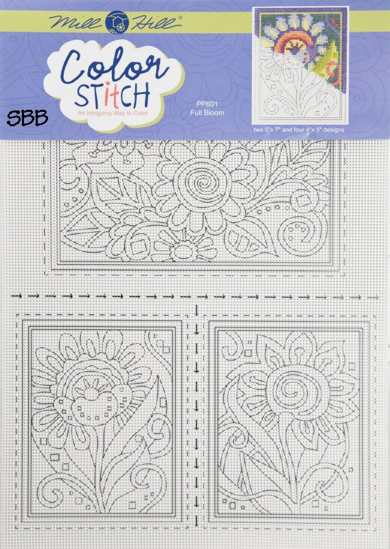 Mill Hill Color Stitch PP601 Full Bloom Perforated Paper