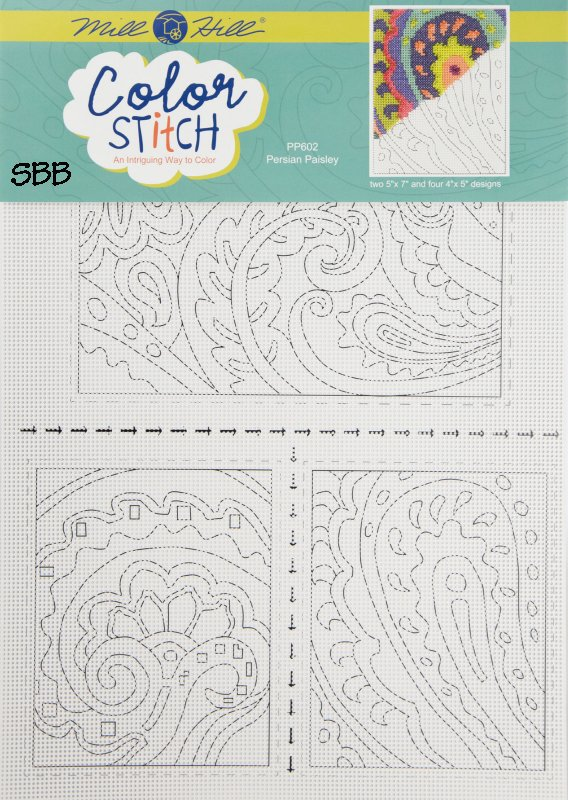 Mill Hill Color Stitch PP602 Persial Paisley Perforated Paper