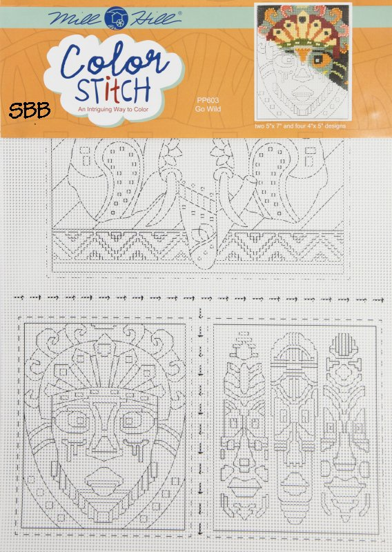 Mill Hill Color Stitch PP603 Gold Wild Perforated Paper