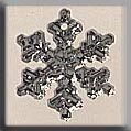 Mill Hill Glass Treasures12035 Small Snowflake ~ Crystal Bright