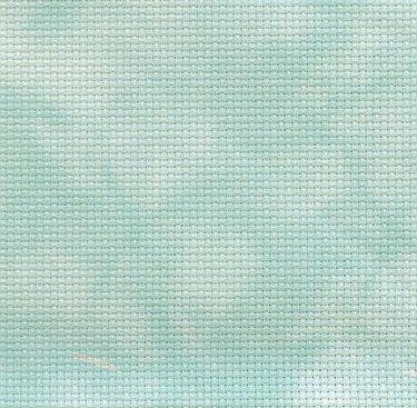 Clearance Fabric Flair Aqua Hand Dyed ~ 14 Count Aida ~ Fat Quarter