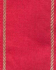 Clearance Permin Fabric Sara Red/Gold ~ 27 Count Linen Banding ~ 2.7