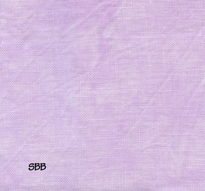 Clearance Stitches and Spice Ice & Snow Pale Violet ~ 28 Count Cashel ~ Fat Quarter