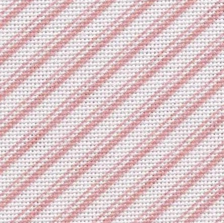 Fabric Flair 28 Count Evenweave Pink Peppermint Stripe Candy 5341