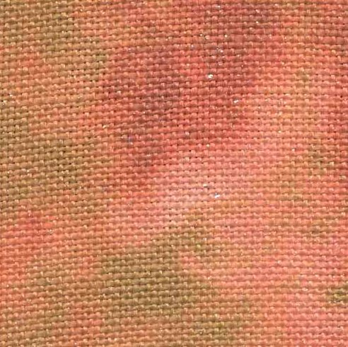 Fabric Flair 28 Count Linen Autumn Fairy Hand Dyed With Silver Sparkles 8241