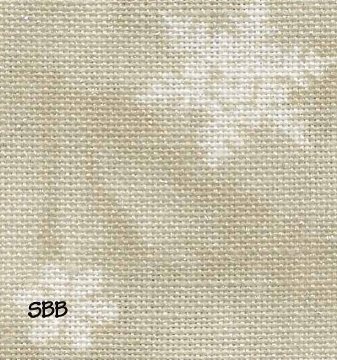 Fabric Flair 28 Count LinenNeutral Snowflakes 7908