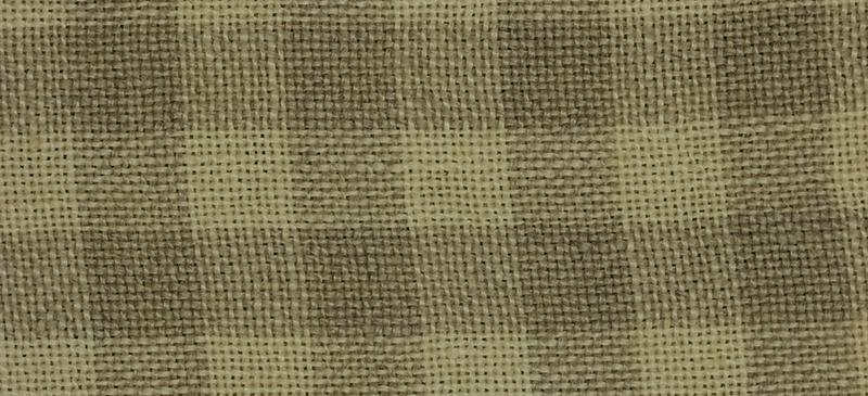 Weeks Dye Works 28 Count Gingham Linen Natural/Light Khaki