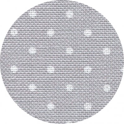 Zweigart 32 count Belfast Linen Petit Point Gray/White 3609-7349