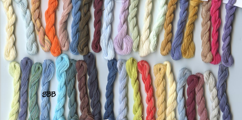 Clearance Stitches and Spice Fibers Sampler Thread Assortment Of 38 Colors