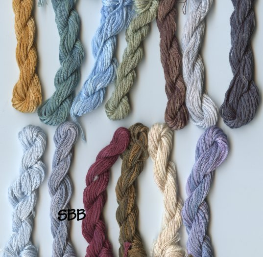 Clearance Stitches and Spice Fibers Stranded Cotton Assortment Of 13 Colors