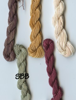 Clearance Stitches and Spice Fibers Stranded Cotton Assortment Of 5 Colors
