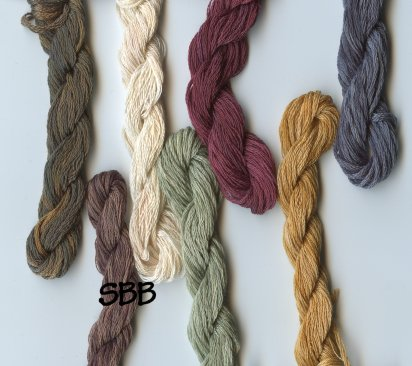 Clearance Stitches and Spice Fibers Stranded Cotton Assortment Of 7 Colors