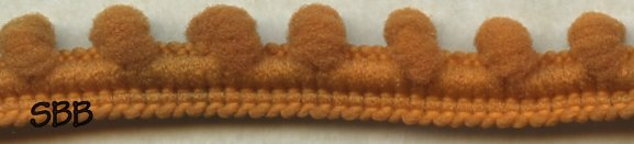 Dames Of The Needle Pom Pom 1 Yard ~ Canned Pumpkin