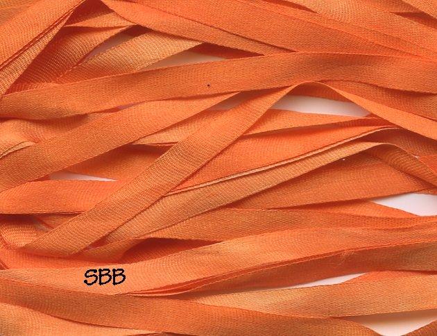 Dinky-Dyes 7mm Silk Ribbon251 Jack O Lantern