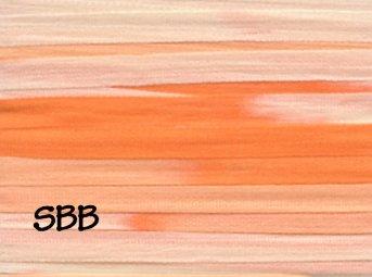 Rainbow Gallery Splendor Silk 4mm Ribbon Multi Color RS944 Orange Sherbets