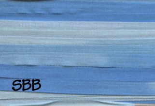 Rainbow Gallery Splendor Silk 4mm Ribbon Multi Color RS969 Cornflower Blues