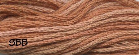Valdani Variegated Floss H206 Washed Orange