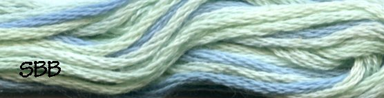 Valdani Variegated Floss M0024 Water Reflections
