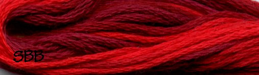 Valdani Variegated Floss M0043 Vibrant Reds