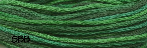 Valdani Variegated Floss M0079 Explosion In Green