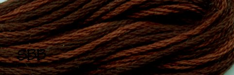 Valdani Variegated Floss O0547 Burnt Chocolate