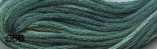 Valdani Variegated Floss O0550 Caribbean Blue